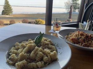 homemade pasta at Lanzi's on the Lake