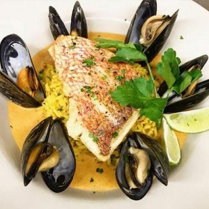 Halibut with Muscles